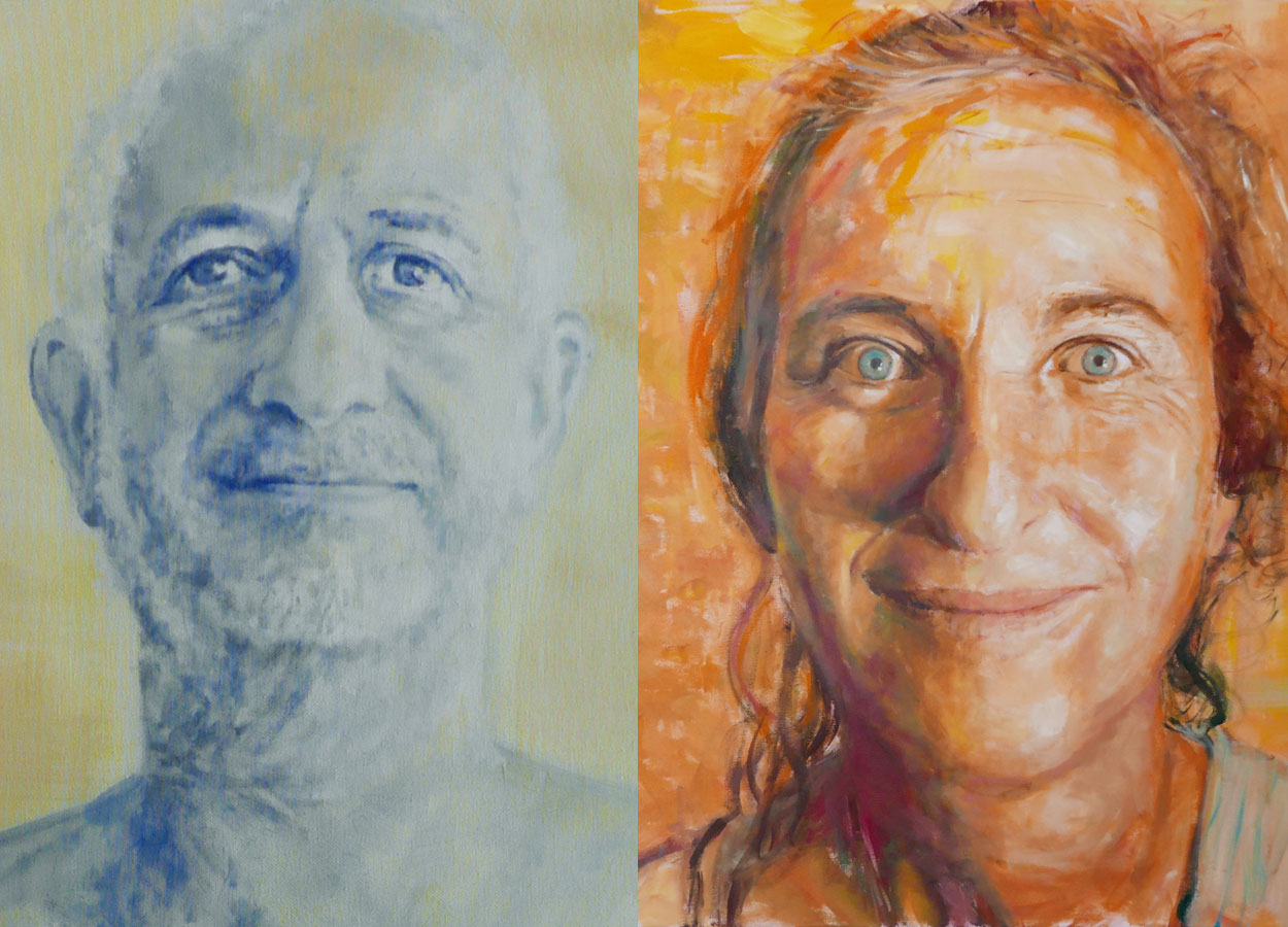 Porträts Sämu und Araxi